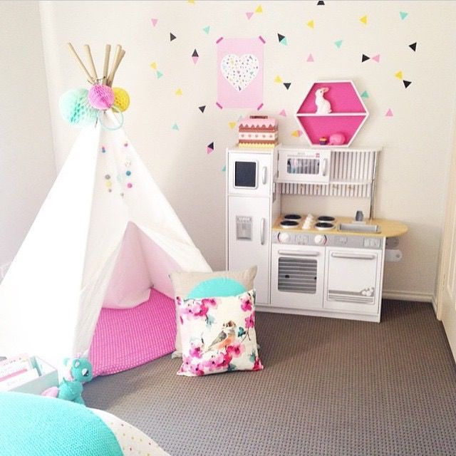 U201cLove This Bright And Colourful Playroom From Our Mini Triangles In Mint,  Yellow, Soft Pink And Black Are Perfect In This Fun Spaceu2026u201d