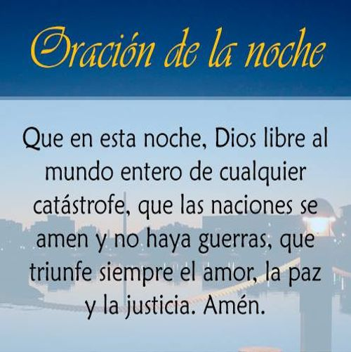 Oración de la noche