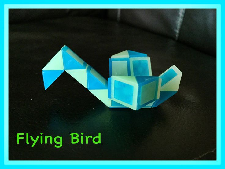 Smiggle Snake Puzzle (Rubik's Twist): How to make a Flying Bird...Step b...