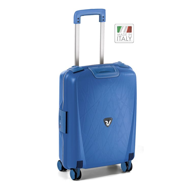 Kleines #Handgepäck Roncato Light bei Koffermarkt: ✓IATA-konform: 55x40x20 cm ✓4 Rollen ✓Hartschale ✓blau  ⇒Jetzt kaufen