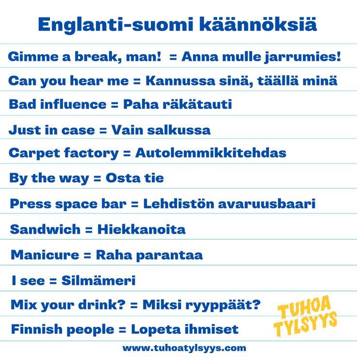 tuhoa-tylsyys-englanti-suomi-käännöksiä