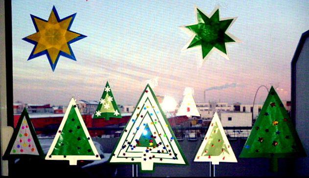 25 einzigartige basteln weihnachten fenster ideen auf - Fensterdeko weihnachten kinder ...