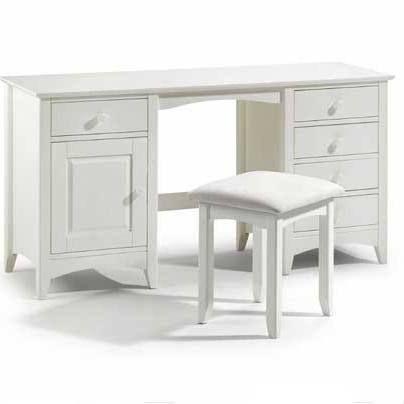 Julian Bowen Cameo Twin Pedestal Dressing Table - White