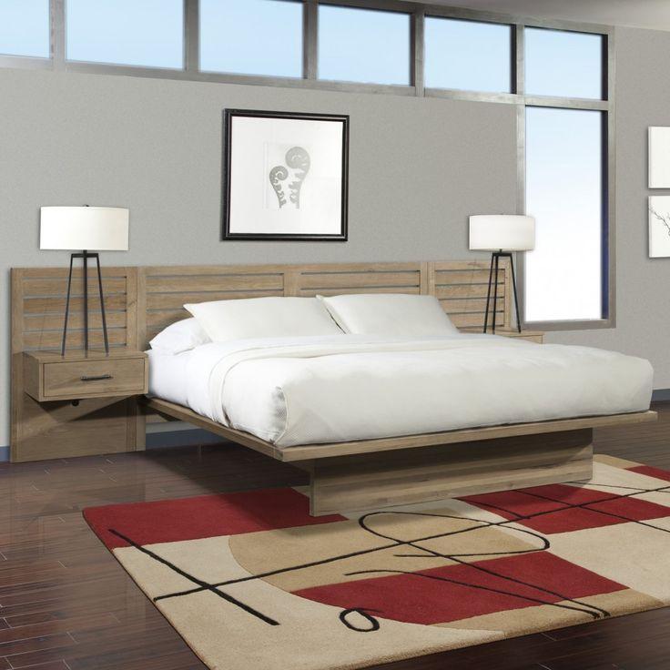 floating platform bed furniture decorating ideas varnished wood floating platform bed with varnished