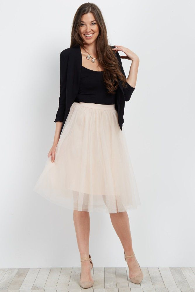 b786d69f0c269 This oh-so-feminine tulle skirt is the perfect addition to your wardrobe  this year. A pretty tulle mesh fabric and midi style fit gives you a piece  you can ...