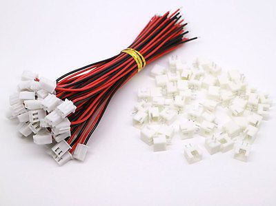 Hot Penjualan Pabrik Langsung 50 SETS JST XH 2.5-2 Pin Baterai Konektor Plug Perempuan & Laki-laki dengan 120 MM Kawat