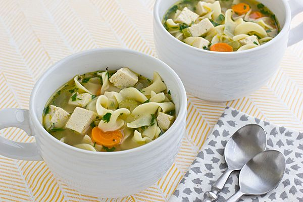 Vegetarian chicken noodle soup...want to find a good recipe so I'll try this to begin with!