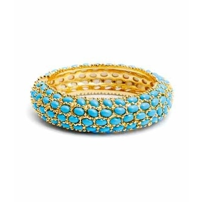Turquoise Beaded Bangle for me :): Turquoise Aqua Blue, Bling, Beads Bangles, Gold Bangles Bracelets, Turquoi Bangles, Turquoise Bangles, Turquoise Beads, Accessories, Blue Rings
