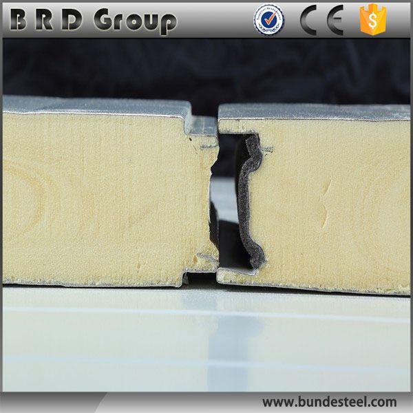 Cold room polyurethane insulation sandwich wall panel
