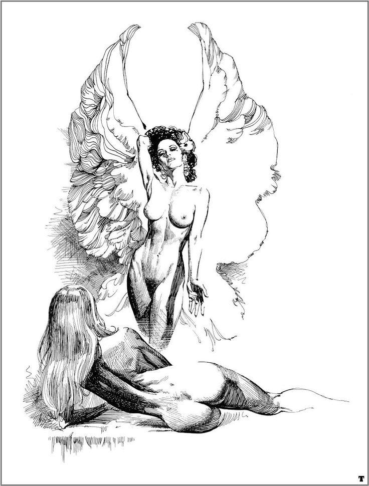 Erotic lesbian drawings