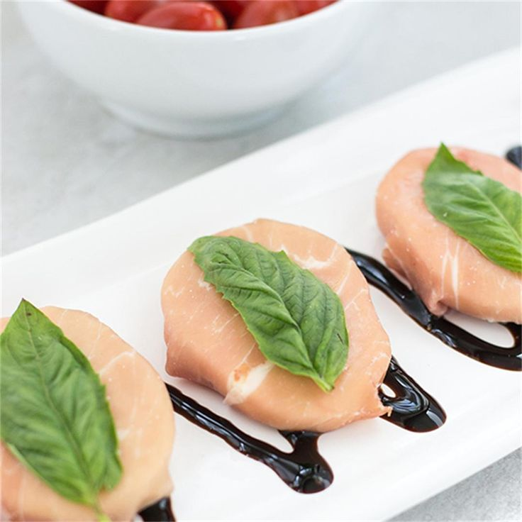 Prosciutto Wrapped Mozzarella with Basil by @queenofmykitche - #KeepOnCooking