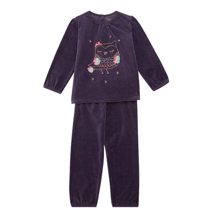 Sergent Major vous propose ce pyjama fille violet pour les 2 à 11 ans du theme Nuit1 h16 de la collection Hiver