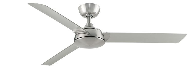 "With its minimalist lines and stylish curves, the 56"" Spinstar ceiling fan in Brushed Nickel is an attractive addition to any space"
