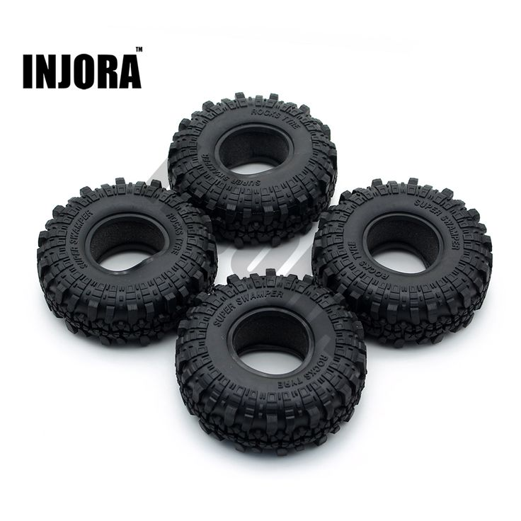 promo 4pcs 1 9 rubber tyre wheel tires for 110 rc rock crawler axial scx10 90046 tamiya cc01 rc4wd d90 #rc #wheels
