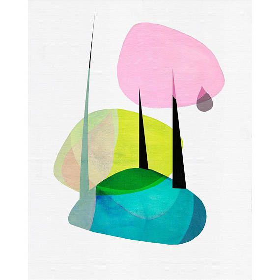 Into The Forest Abstract Modern Giclée Art Print 308