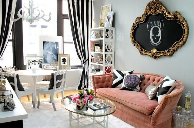 cameo: Chalkboards, Curtains, Decor Ideas, Couch, Frames, Offices, Interiors Design, Eclectic Living Rooms, Nyc Fashion