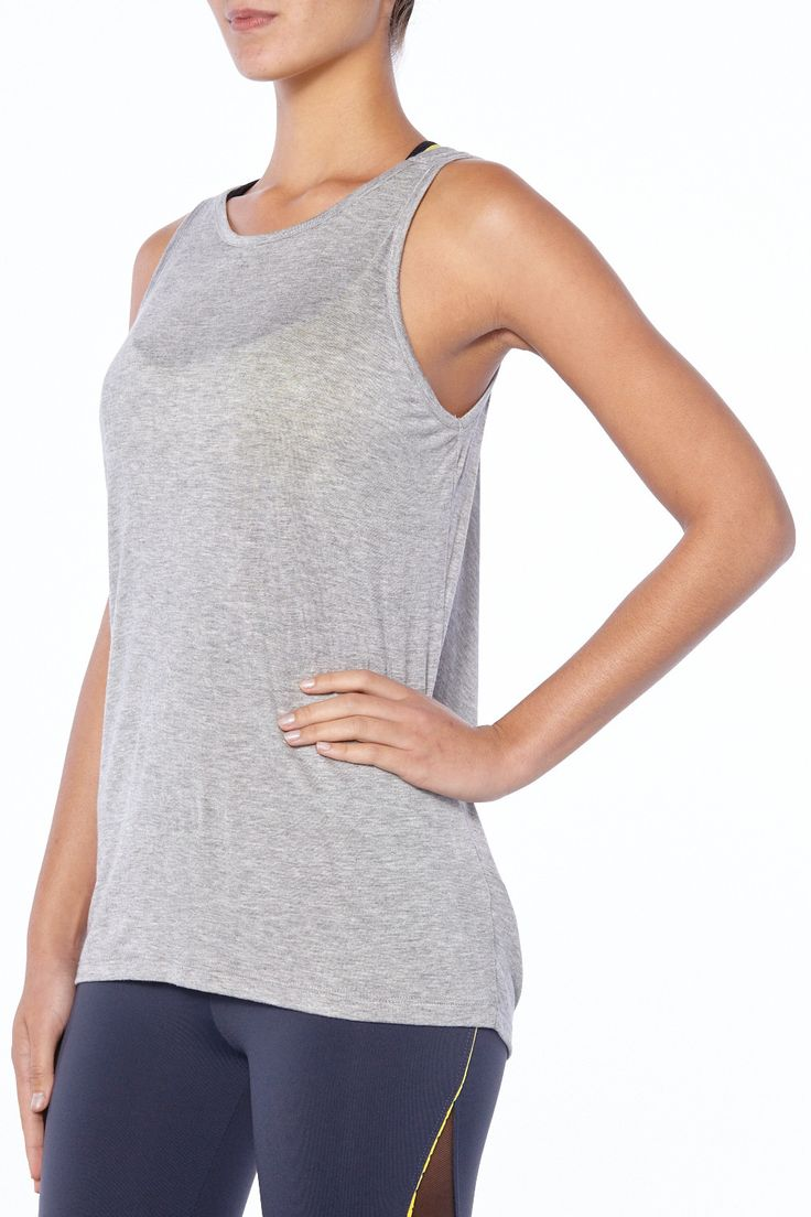 Still on the lookout for the best yoga tops? Look no further than No Looking Back. The unique, architectural design features a cool cut-out back so you can keep your mind on your yoga poses, not your temperature. After the gym, it's the go-to layering tee to compliment your post-workout glow and take you into the night. Made in the U.S.