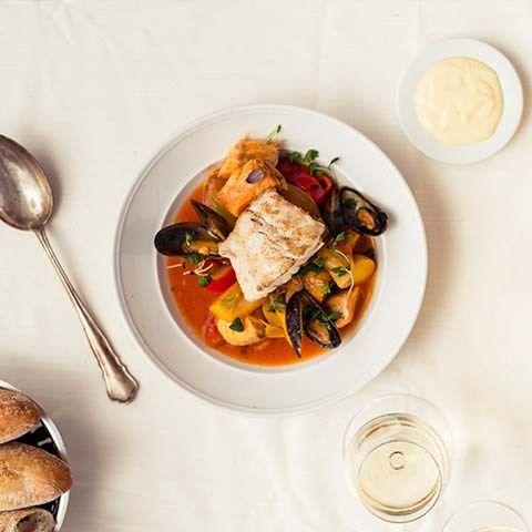 Festlig fiskgryta med saffran & fänkål