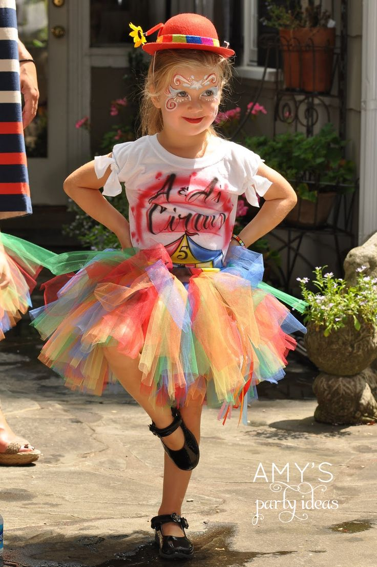 Circus outfit for the birthday girl...Tutu and face painting!