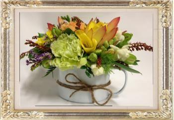 Floral Tin Mug