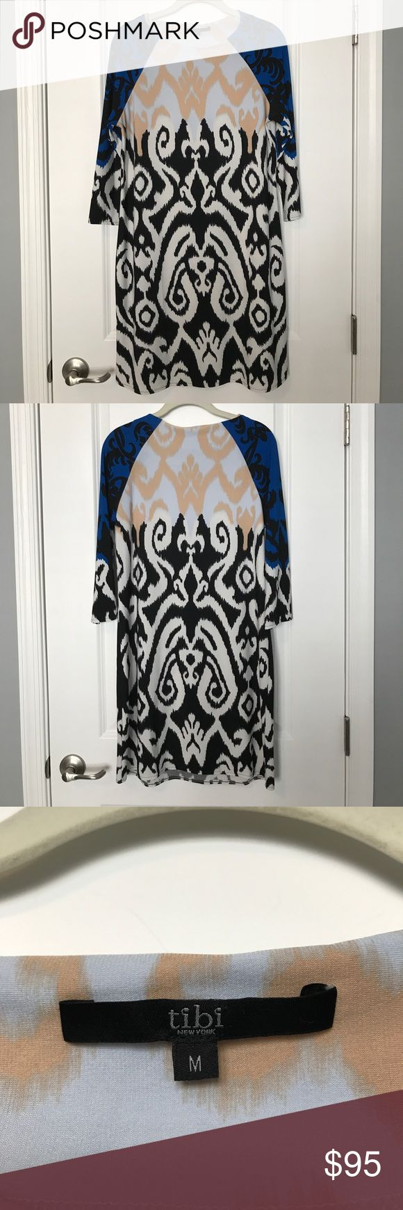 """Tibi Dress Any RHOBH fans out there?!? This dress was purchased from Kyle by Alene Too in Beverly Hills, CA.                                          Never worn!                                                                                 3/4 sleeves                                                                               Length hits above the knee, I'm 5'6""""                                             Smoke free, pet free home Tibi Dresses Midi"""