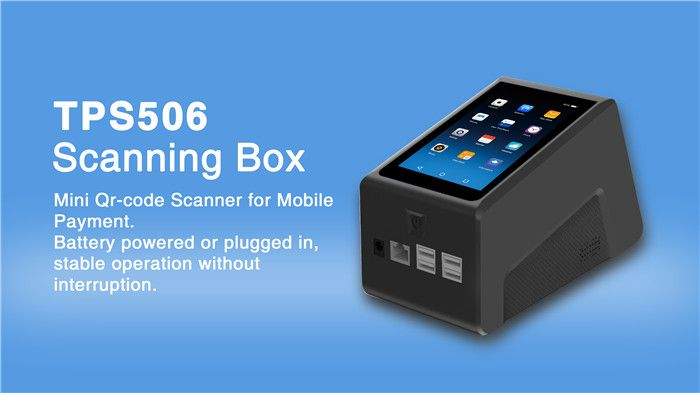 Telpo TPS506 Countertop Scanning Box Android QR Code Scanner