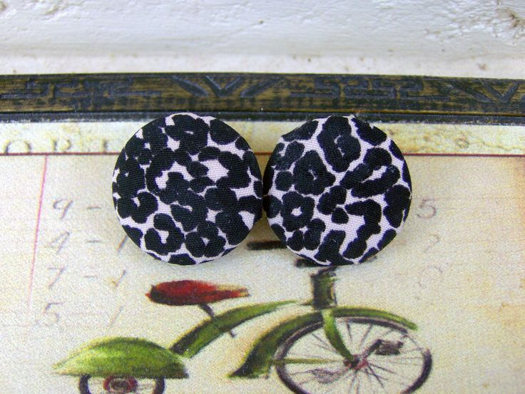 leopard fabric & buttons