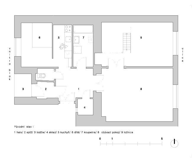 byt Dejvice - Svatovítská - skvadra