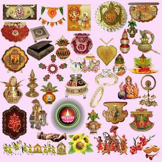 Edit Your Photos: Hindu Wedding Clipart Elements PSD