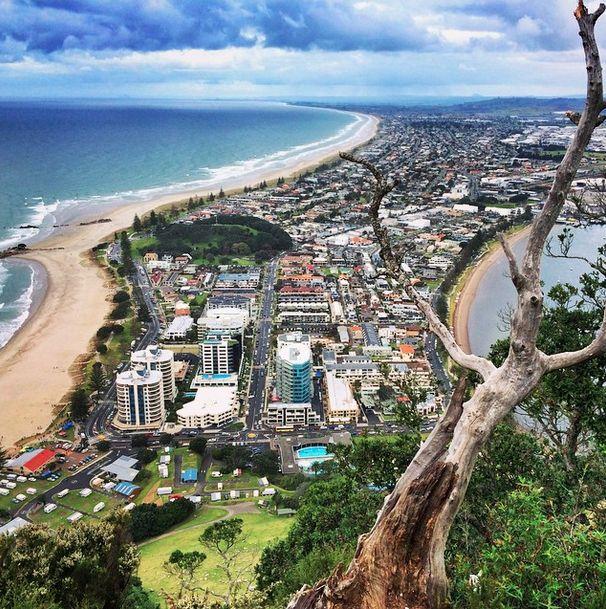 Amazing view of Tauranga, New Zealand. #travel