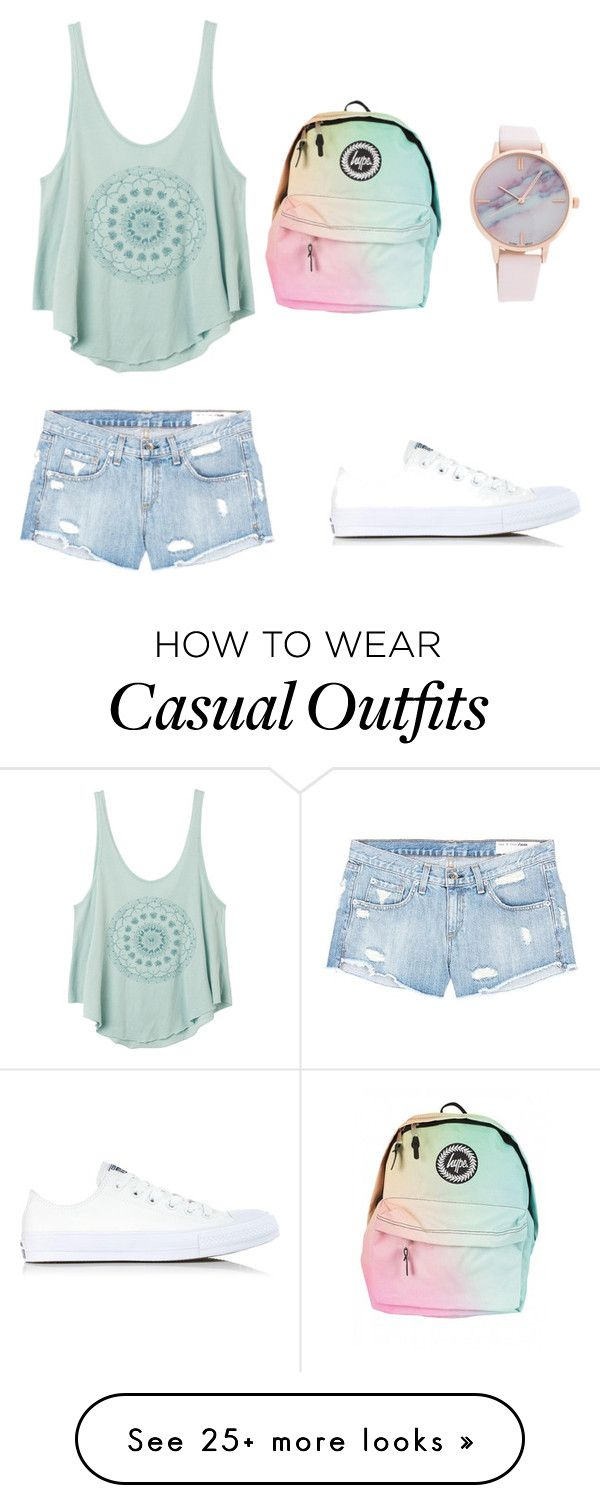 """Casual"" by jadynt28 on Polyvore featuring RVCA, rag & bone/JEAN and Converse"