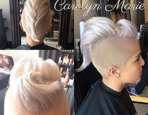 platinum blonde mohawk