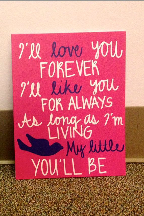 Love You Forever Canvas by CraftingbyKatherine on Etsy, $14.00