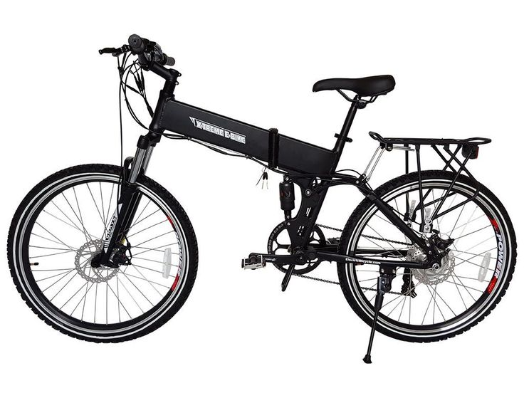 X-Treme BAJA 36 Volt Lithium Powered Electric Folding Mountain Bike Black Color