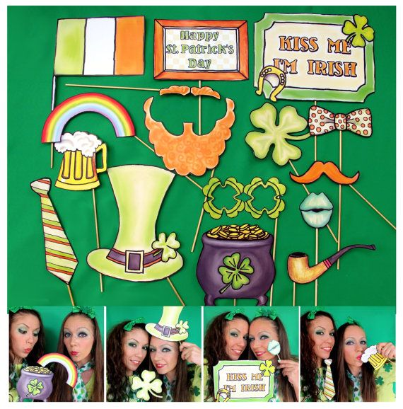 St Patrick's Day and Ireland Photo Booth Props  perfect