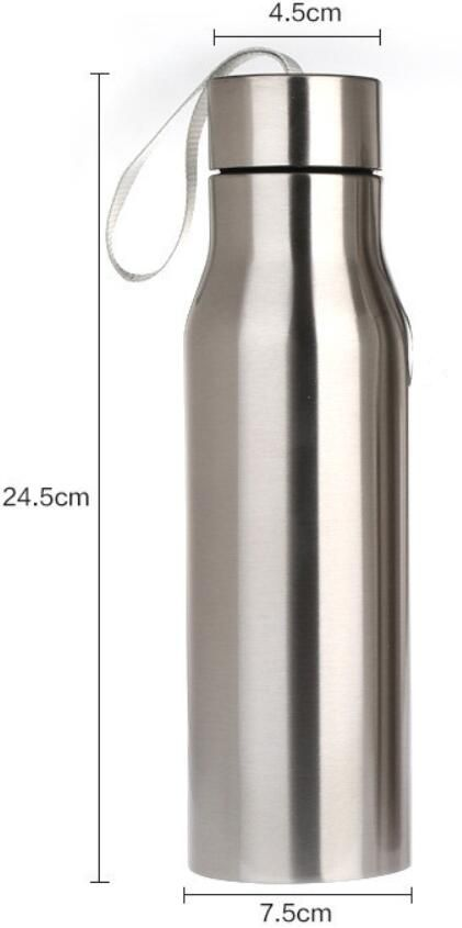 Double Walled Vacuum Insulated Water Bottle - 500ML ICE COLD / THERMOS HOT - SAFE for hydrating sports drinks, herbal tea, coffee, wine, vodka! SMALL SIZED TO FIT MOST CUP HOLDERS - great for bikes, cars, backpacks. SIMPLE EASY CLEAN LID - more comfortable to drink from - no complicated straw to break, malfunction or harbor bacteria.