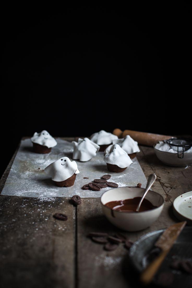 Muffins fantôme tout chocolat - Ophelie Lauret - Ophelie's Kitchen Book-16