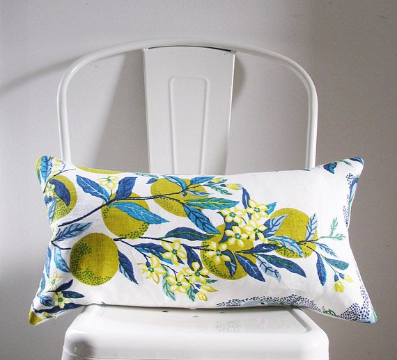 Schumacher Pillow Cover Citrus Garden In Pool By Josef Frank Ready To Ship 11x21 Lumbar Size This Listing Is For T Schumacher Pillows Pillows Pillow Covers