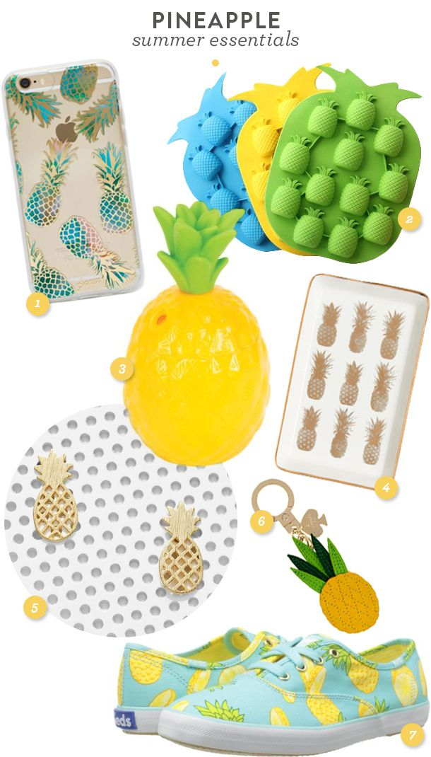 Embrace the pineapple trend with these cute sneakers, accessories and home and party goods (click through for links on where to find each item)