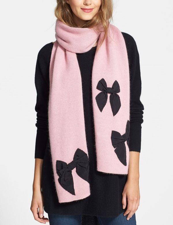 Love the bows on this pink Kate Spade scarf.