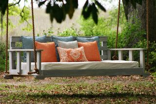 cool contemporary porch swing