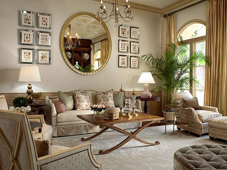 dekorative wand spiegel f r wohnzimmer ein wohnzimmer. Black Bedroom Furniture Sets. Home Design Ideas