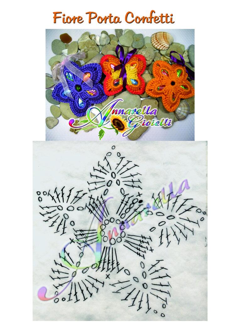 Schema Fiore uncinetto porta ovetti.  Il tutorial è disponibile qui: https://youtu.be/yyK5hbmjtUI #annarellagioielli #crochet #flower