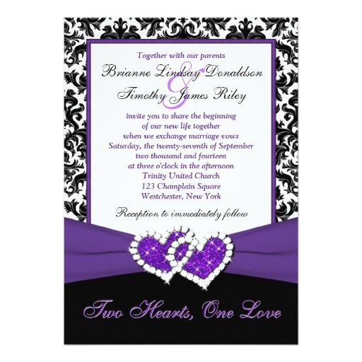 damask hearts wedding invite wedding invitation kits glitter wedding