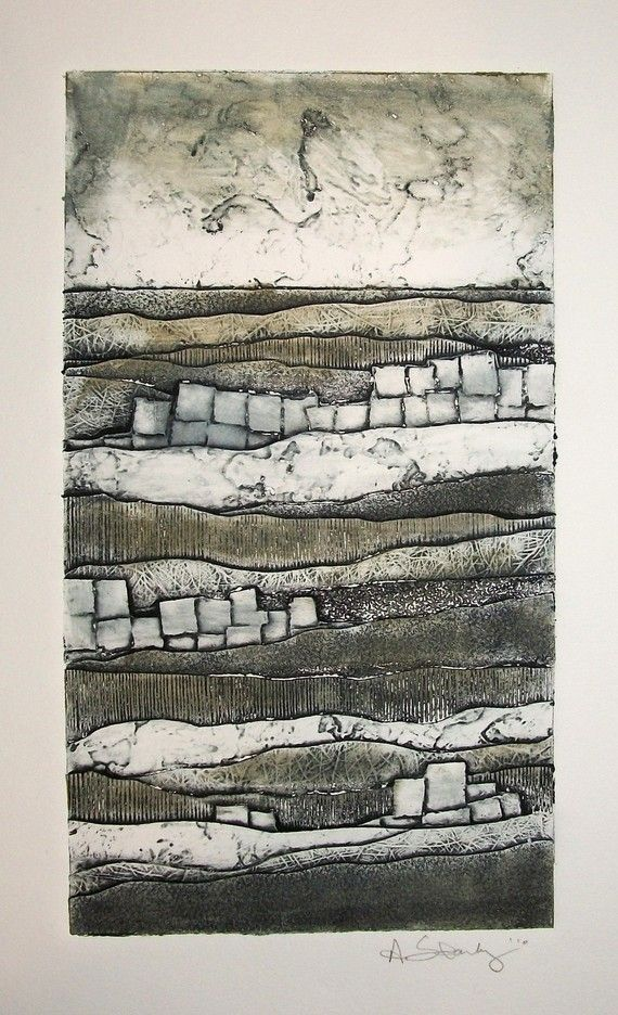 Artist: Andrea Starkey. Title: Layers Series No. 2. Year: 2009. Description: Collagraph.