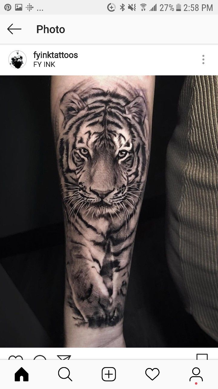 Pin De Adalisjimenez En Animales Tatuaje De Tigre Tatuaje De
