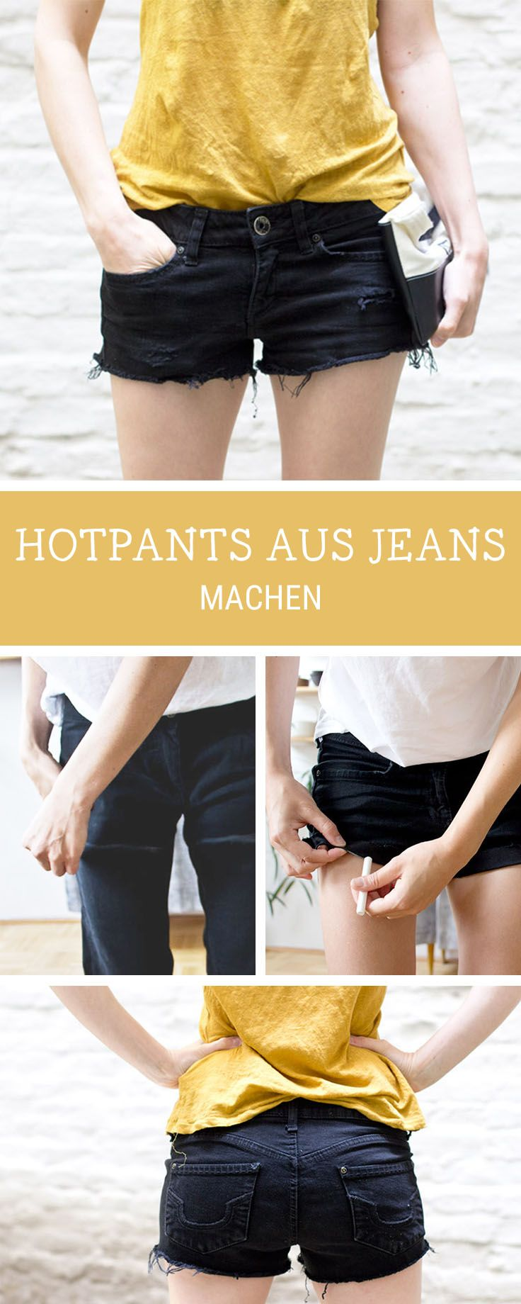 Nähanleitung für Hotpants: Wir zeigen Dir, wie Du alte Hosen in die perfekte Hotpants-Länge verwandelst / sewing inspiration: turn your old trousers into perfectly fitting hotpants, upcycling via DaWanda.com