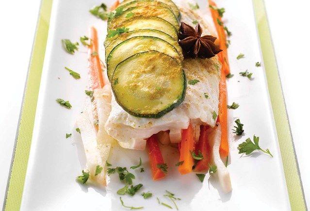 Recept voor Papillot van kabeljauw met witloof, prei en fijne kruiden | Solo Open Kitchen