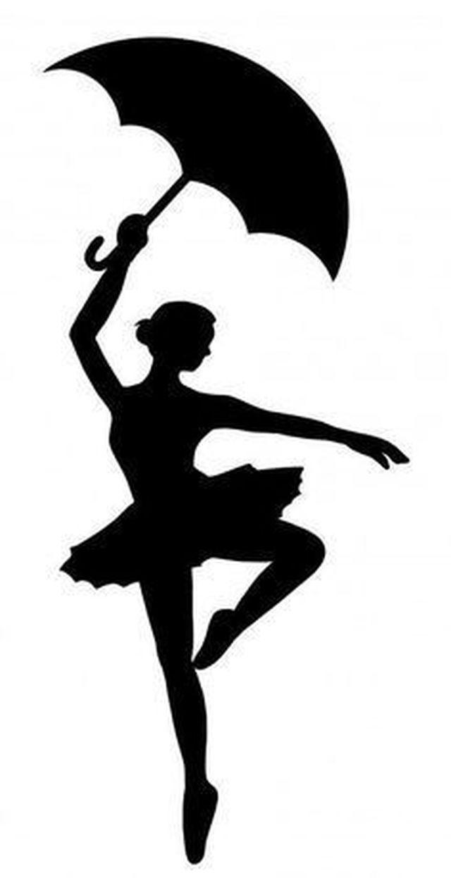 Reusable Stencils Ballet Dancer Ballerina Silhouette Art Silhouette Crayon Art