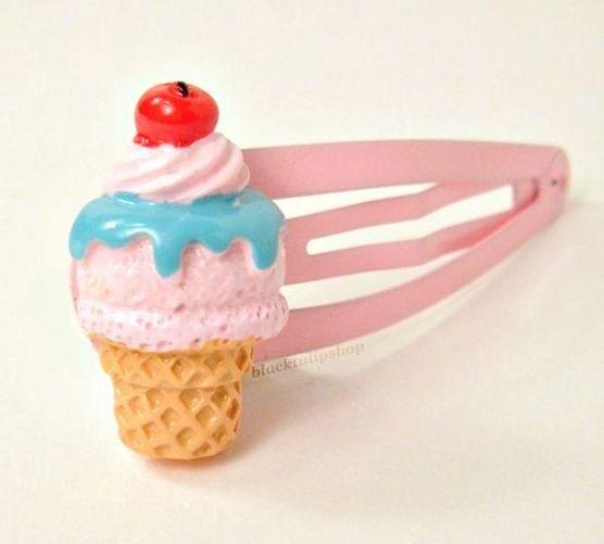 Sweet 025 Hair Elastics In An Ice Cream Cone